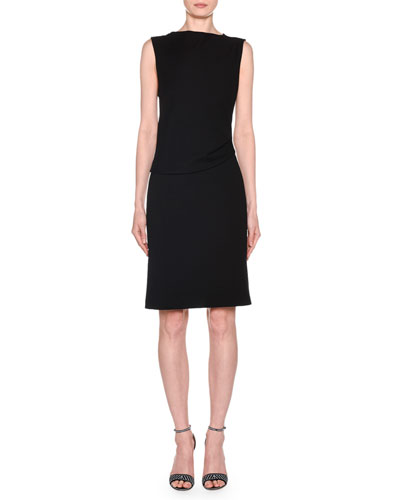 5f8f7ac2c09 Quick Look. Giorgio Armani · Sleeveless Draped Milano Jersey Dress