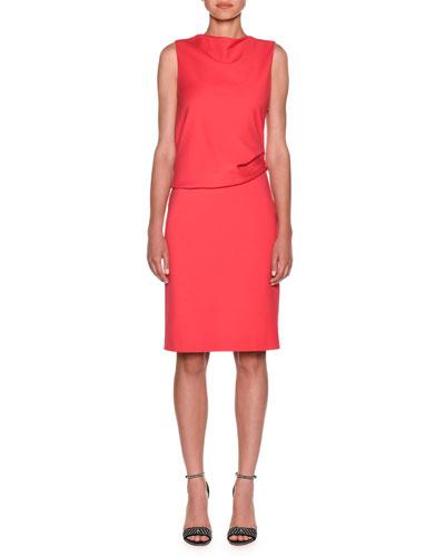 Milano Jersey Sleeveless Popover Dress