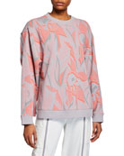 adidas by Stella McCartney Floral Print Sweatshirt w/