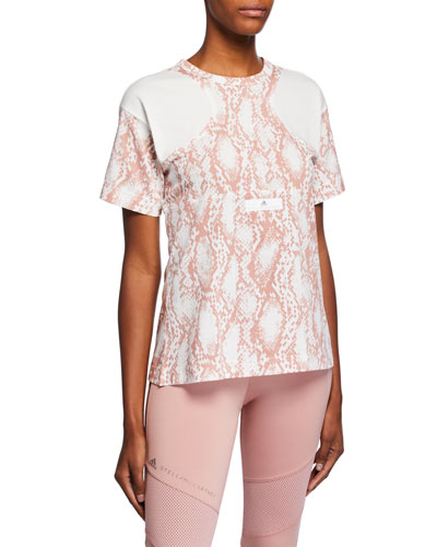 Short-Sleeve Mesh Graphic Tee