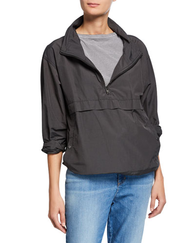 Plus Size Organic Cotton/Nylon Pullover Jacket