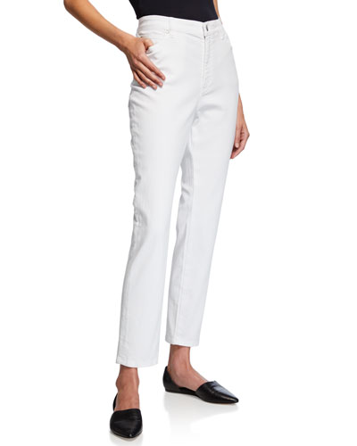 Petite Organic Cotton Stretch High-Waist Skinny Jeans