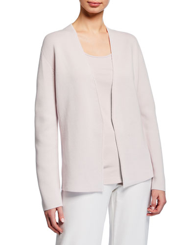 9f62f74e09 Quick Look. Eileen Fisher · Plus Size Shaped Silk Organic Cotton Interlock  Cardigan