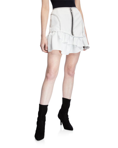 f58afb2aad3 Quick Look. Opening Ceremony · Front Exposed-Zip Mini Skirt. Available in  White