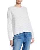 Eileen Fisher Textured Organic Cotton & Linen Sweater