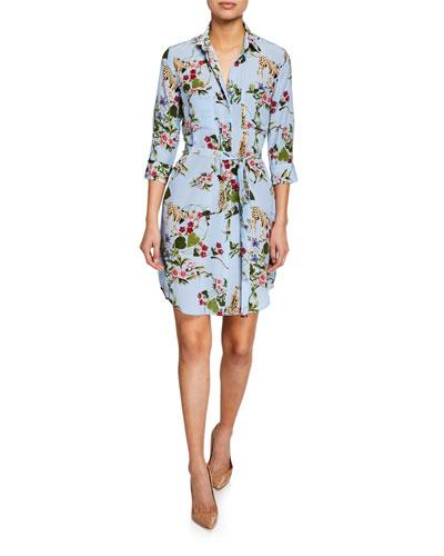 eea10fc3ee39 Short Sleeve Silk Shirt Dress