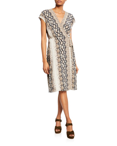 a553119b47 Tie Viscose Wrap Dress