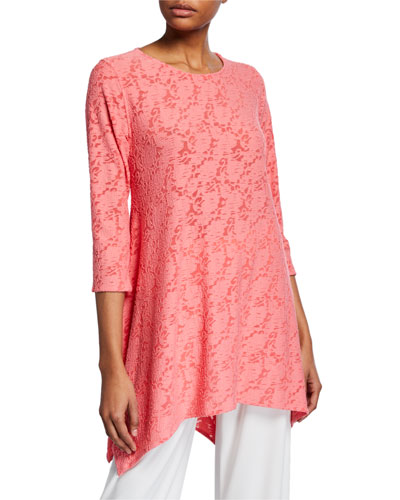 c99331ec Quick Look. Caroline Rose · Plus Size Rose Garden Knit Swing Tunic