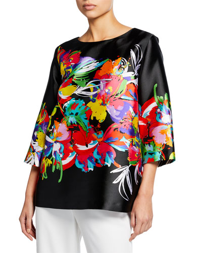 Tropical Punch Printed Tunic