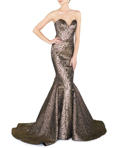 b87ba4cf222 Quick Look. Mac Duggal · Sweetheart Strapless Metallic Mermaid Gown