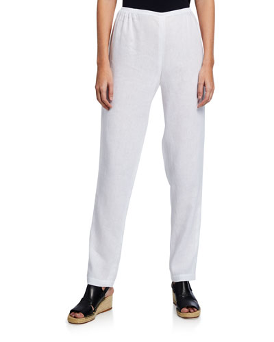 Womens Petite Size Casual Pants Elastic Waist Band Pants