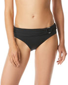 MICHAEL Michael Kors Logo Ring Fold-Over Hipster Bikini