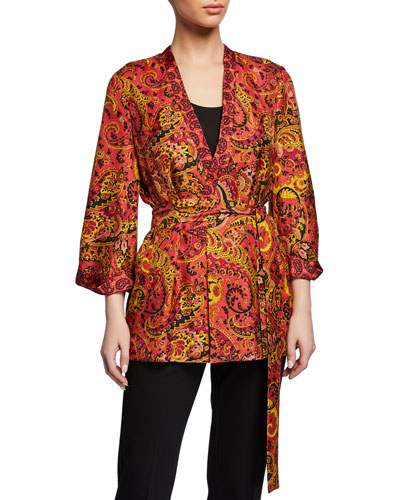 bc088bbc901 Womens Silk Jacket | Neiman Marcus | Womens Silk Coat, Ladies Silk ...