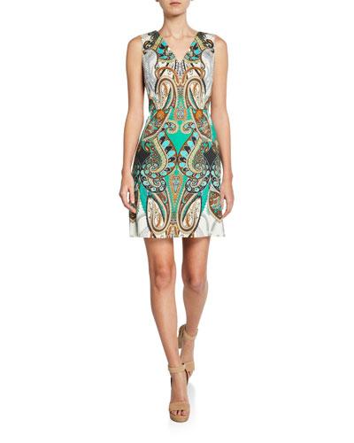 Dara Printed Sleeveless Mini Dress