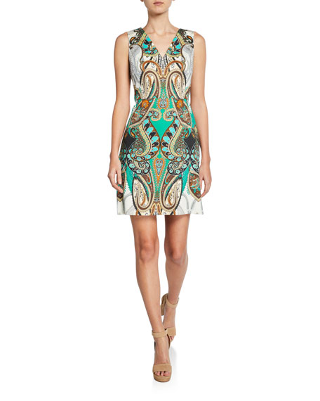 Kobi Halperin Dara Printed Sleeveless Mini Dress