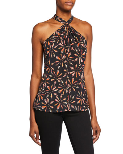 068f94b9d8a625 Quick Look. Kobi Halperin · Sari Printed Silk Halter Blouse