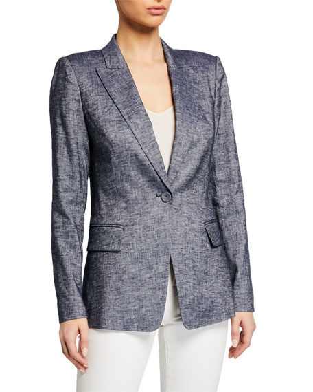 Kobi Halperin Palma Notched-Collar One-Button Jacket