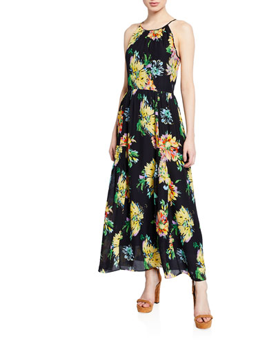 Lana Floral-Print Halter Dress