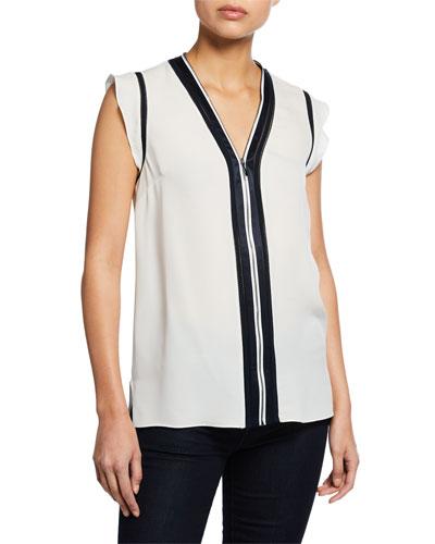 1205fe50adf4 Cap Sleeve Imported Silk Blouse   Neiman Marcus