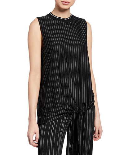 Isabella Striped Sleeveless Knit Top