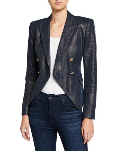 Jezebel Metallic Double-Breasted Jacket