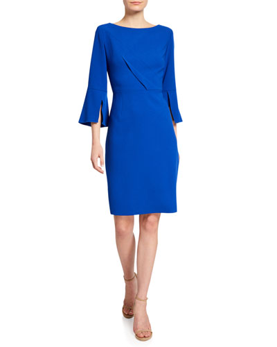 Isla Bell-Sleeve Sheath Dress