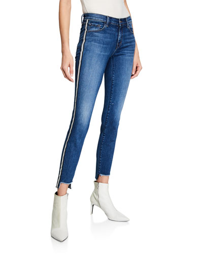 811 Mid-Rise Skinny Step-Hem Jeans w/ Side Stripes