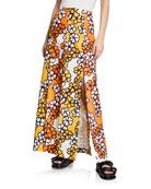 3.1 Phillip Lim Printed Multi-Slit Maxi Skirt