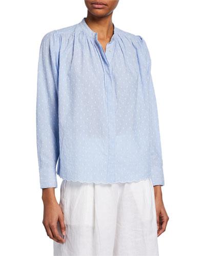 Abidan Embroidered Cotton Top