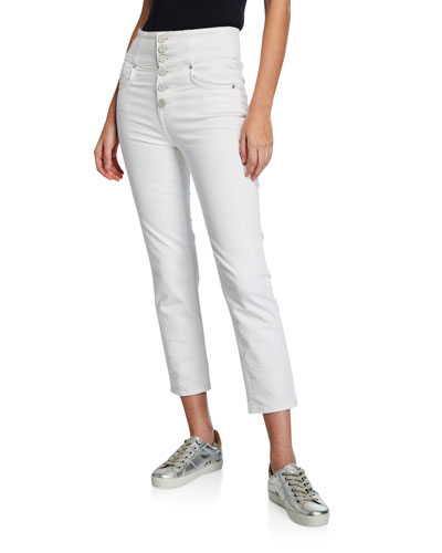 Laurelle High-Rise Skinny Button-Fly Pants