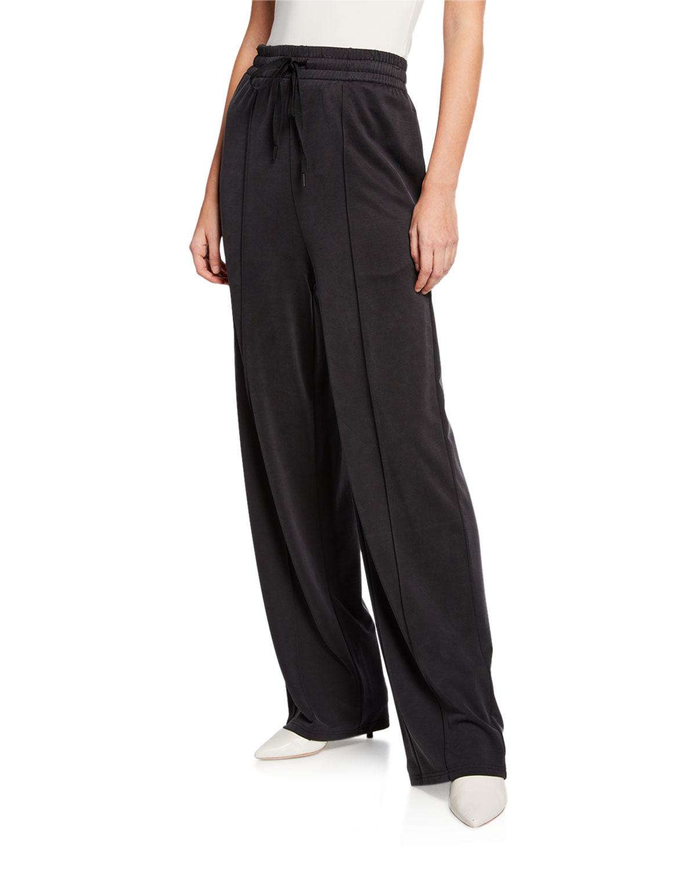 Cupro Jersey Wide-Leg Pants