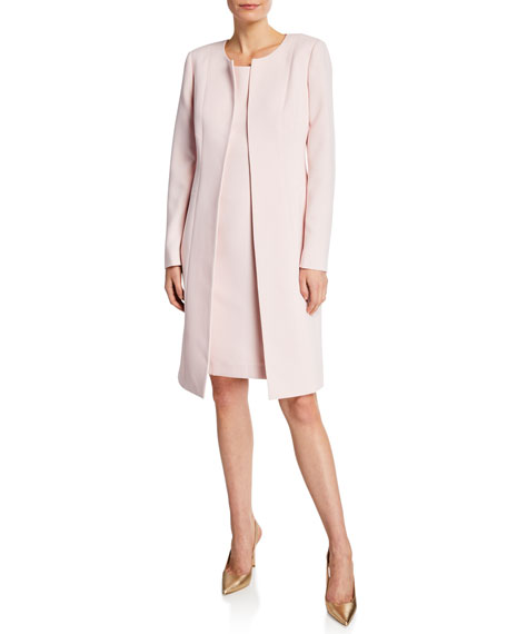 Albert Nipon Two-Piece Topper Coat & Sheath Dress Set