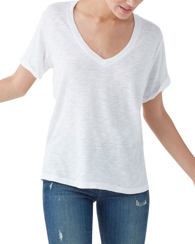 Everly Short-Sleeve V-Neck Tee