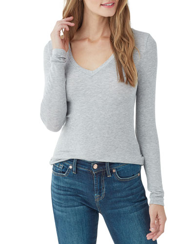 Valley 2x1 Rib Long-Sleeve V-Neck Tee