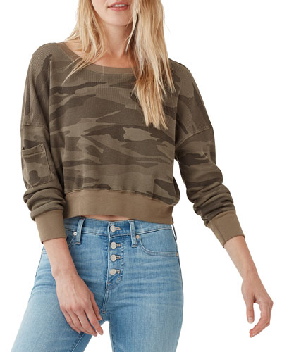 Thermal Academy Cropped Pullover Sweatshirt