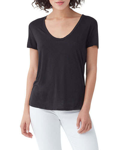Sloane Short-Sleeve Scoop-Neck Tee