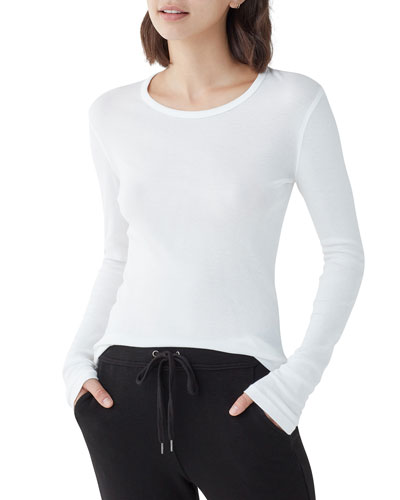 1X1 Classic Long-Sleeve Crewneck Top