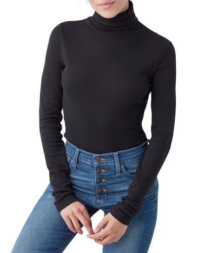 Classic 1x1 Slim Turtleneck Sweater