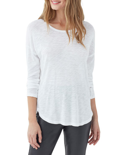 Zander Easy Slub Long-Sleeve Crewneck Tee
