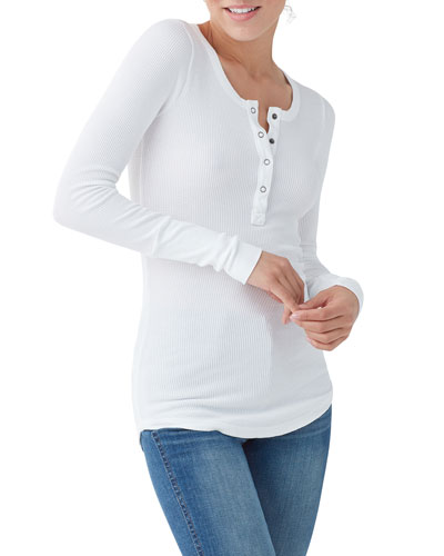 Forever Thermal Henley Top