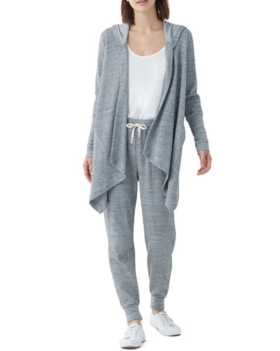 Thermal Flight Hooded Open-Front Cardigan