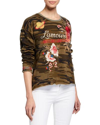 Plus Size Burke L'Amour Camo Sweatshirt
