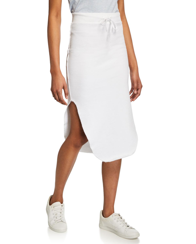 Long Fleece Pencil Skirt