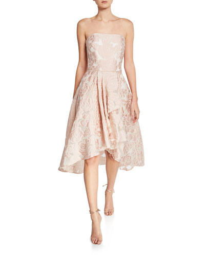 Isbell Floral Strapless Fit-and-Flare Cocktail Dress