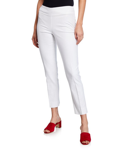 Plus Size Perfect Pant Straight-Leg Slim Ankle Pants
