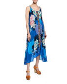 Johnny Was Kara Floral-Print Scoop-Neck Sleeveless Dress w/