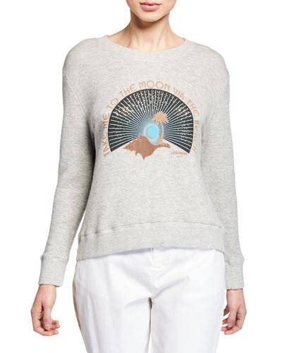 Take Me To The Moon Graphic Sweatshirt
