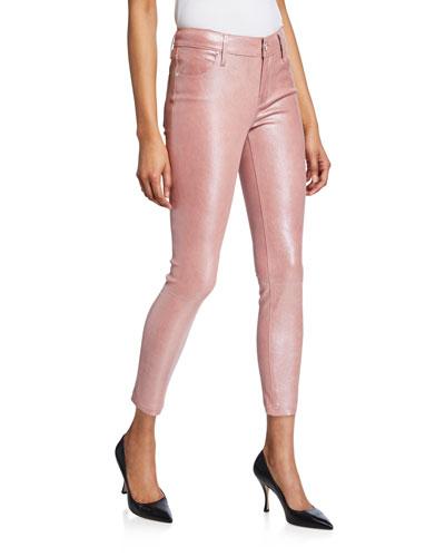 Prince Metallic Leather Skinny Pants