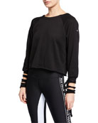 Alo Yoga Tribe Long-Sleeve Top with Slashed Cuffs