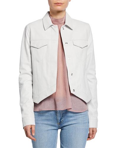 Jack Asymmetrical Leather Jacket